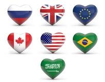 Potências mundiais ilustração royalty free