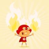 Potências super do miúdo ilustração stock