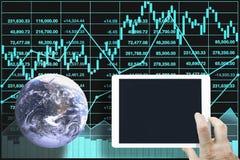 Potężna i wpływ indeksu giełdowego dane analiza zdjęcie stock