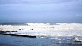Potężna zimy burza na Atlantyckim oceanie Zdjęcia Royalty Free