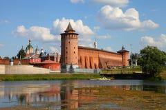 Potężne ściany Kremlin Obrazy Royalty Free