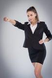 Potężny Biznesowy Woam Ciągnie poncz Zdjęcie Royalty Free