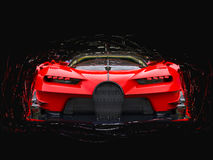 Potężny czerwony super samochód wyścigowy Obrazy Stock