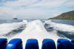 Potężny silnik dla sport łodzi - Akcyjny wizerunek zdjęcia royalty free