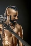 Potężny Złocisty żołnierz z kordzikiem 2 Zdjęcie Stock