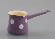 Pot émaux avec la poignée Photo libre de droits