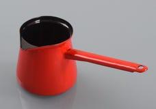 Pot émaux avec la poignée Photographie stock