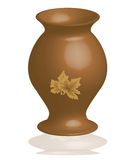 Pot. A pot made by clay, Can use as a flower vase Stock Photos