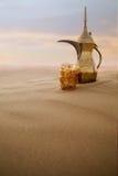 POT arabo del caffè Fotografia Stock