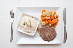 Pot-au-feu  with beef and rice Stock Image