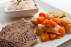 Pot-au-feu  with beef and rice Stock Photo