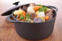 Pot au feu, beef stew stock image