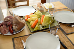 Pot-au-feu with meat and vegetables Royalty Free Stock Photos