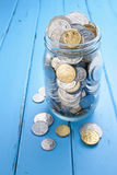 Pot australien de pièce de monnaie d'argent Images stock