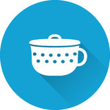 Pot baby icon. Vector illustration. Stock Image