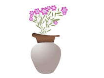 Pot with beautiful  flowers Royalty Free Stock Photos