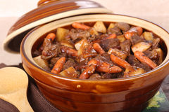 Pot of Beef Stew Royalty Free Stock Image
