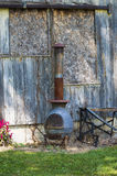Pot belly out side wood stove Royalty Free Stock Images