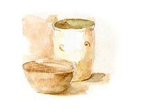 Pot and bowl Stock Photos