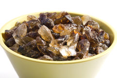 Pot with brown sugar Stock Photo