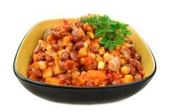 POT caldo della lenticchia e della verdura immagini stock