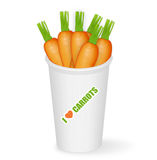 Pot of carrots. Illustration of pot of carrots isolated on white Royalty Free Stock Image