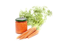 Pot carrots Stock Photos