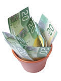 Pot of Cash Royalty Free Stock Photo