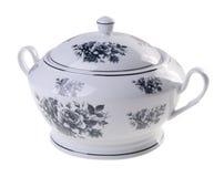 Pot, Ceramische pot op witte achtergrond. Stock Fotografie