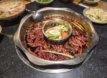 Pot chaud épicé délicieux de Sichuan Images libres de droits