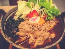 Pot chaud d'Udon photo libre de droits