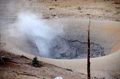 Pot chaud en parc national en pierre jaune Photo libre de droits