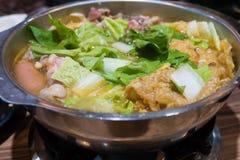 Pot chaud taiwanais traditionnel Photographie stock libre de droits