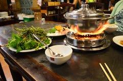 Pot chaud vietnamien de Ho Chi Minh Ville photographie stock libre de droits