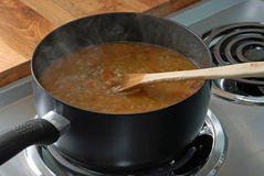 Pot of Chicken Gumbo Royalty Free Stock Photo
