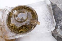 POT cinese del tè su ghiaccio fotografia stock