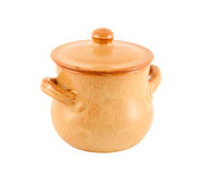 Pot from clay. Stock Image