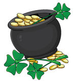 Pot and clover Stock Photos