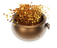 Pot with coins Stock Image