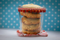Pot complètement de chocolat Chip Cookies Photos stock