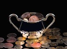 POT con soldi Fotografie Stock Libere da Diritti
