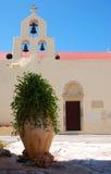 Pot in a cretan monastery Stock Photo