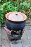 Pot d'argile en cuisine thaïlandaise Photographie stock libre de droits