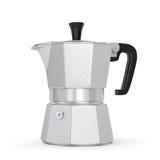 Pot de café de Moka Photos libres de droits