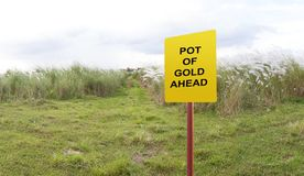 Pot de concept de mythe d'or en avant Photos libres de droits