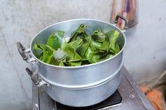 Pot de cuisson à la vapeur thaïlandais Images libres de droits