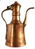 Pot de cuivre antique de café photos libres de droits