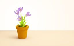 Pot de fleur Photo stock