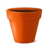 Pot de fleurs avec l'illustration au sol de vecteur Images stock