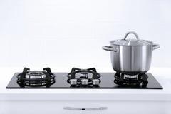Pot in de keuken royalty-vrije stock afbeelding